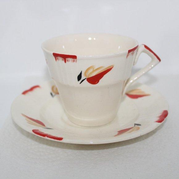 Art Deco Myott England Vintage Cup and Saucer 1930s